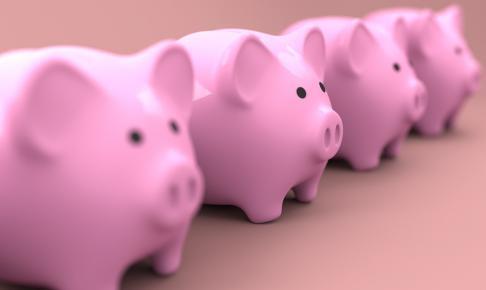 piggy 2889044 1280 486x290 - LINEスマート投資の「ワンコイン投資」とは?実際に運用して検証してみた。